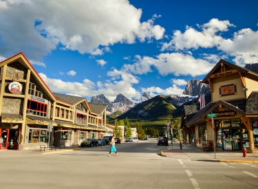 Canmore's main street
