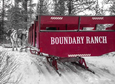 Boundary Ranch - Winter Sleigh Rides