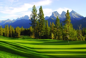 a golf course;