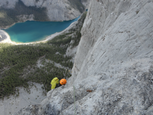 Multi pitch climbing in Canmore Kananaskis 1