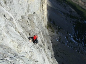 Multi pitch climbing in Canmore Kananaskis 3