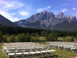 Outdoor ceremony locations in Canmore