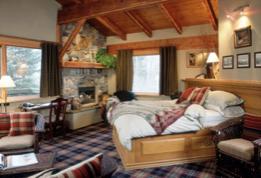 Inside of a lodge