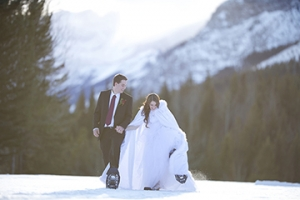 Winter Mountain Wedding Inspiration 1